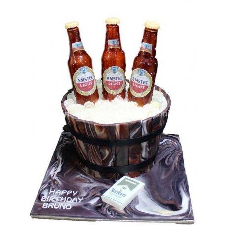 Amstel beers bucket cake