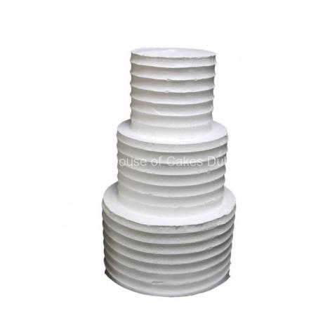 white cake with cream 6