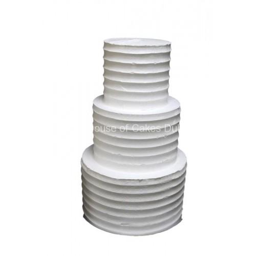 white cake with cream 7