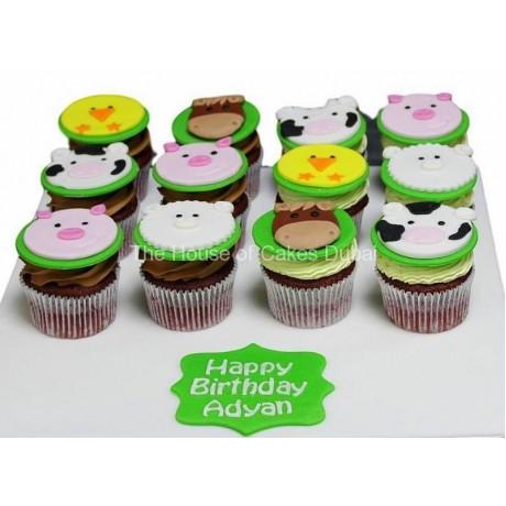 farm animals cupcakes 6