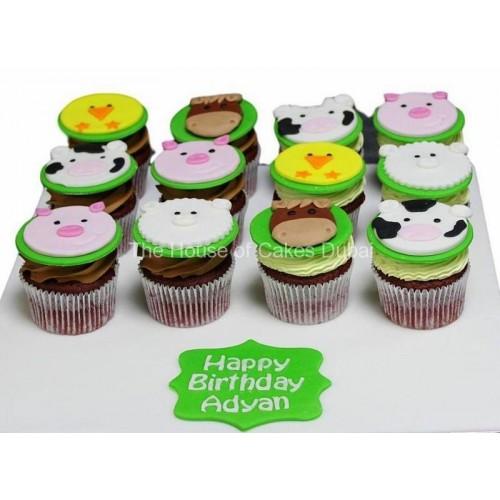 farm animals cupcakes 7