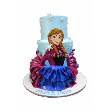Elsa and Anna Cake 3