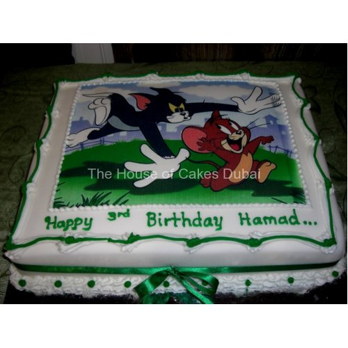 Tom and Jerry Cake with photo 1