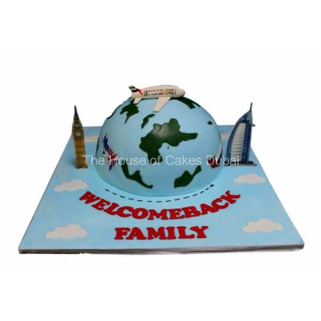 Welcome back family cake