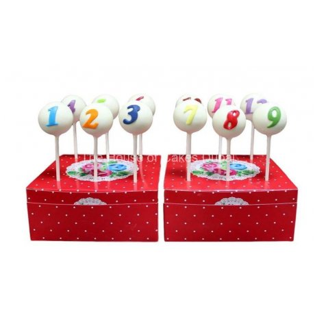 cake pops with numbers 6