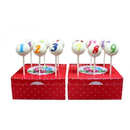 cake pops with numbers 7