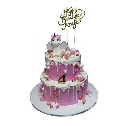 cute unicorn and dripping cake 7