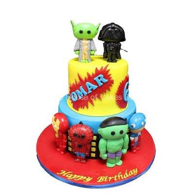 Baby superheroes cake 2