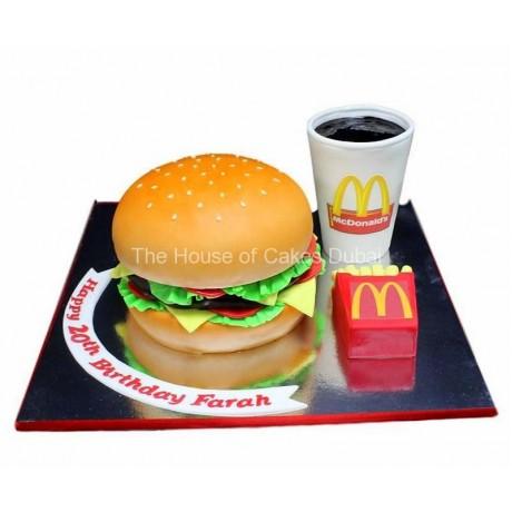 mcdonald's burger meal cake 6