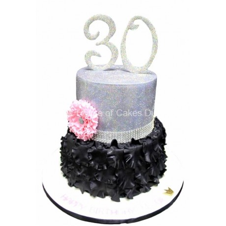 black and silver cake 1 6