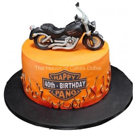 Groovy Harley Davidson Cake 6 Funny Birthday Cards Online Fluifree Goldxyz