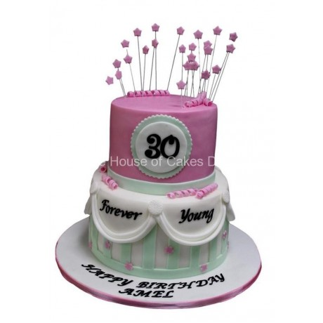 forever young 30th birthday cake 6