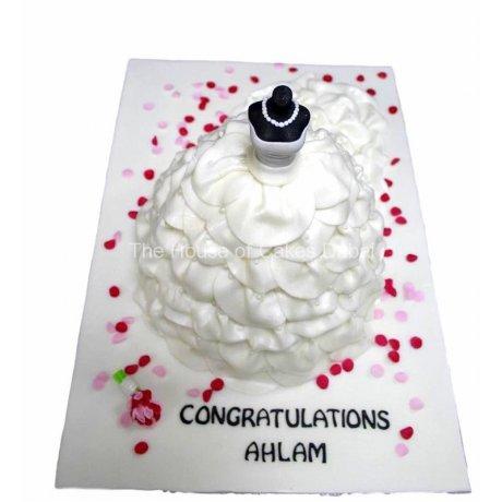 Bridal dress cake 11
