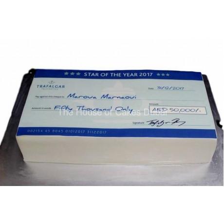 cheque cake 1 6