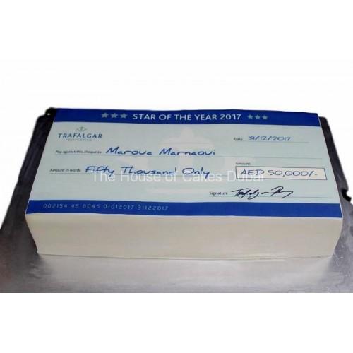 cheque cake 1 7