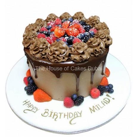 Choco berries cake