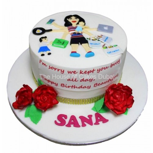 Busy mother cake
