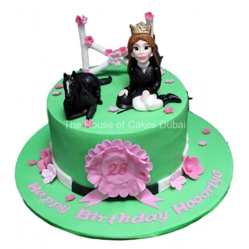 Girl and horse cake 2