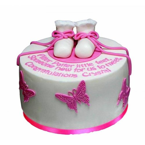 Baby shoes cake 3
