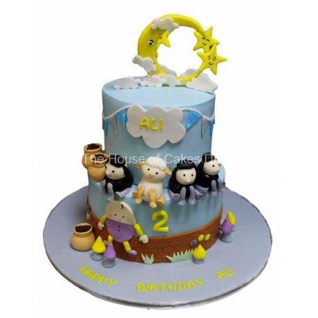 nursery rhymes cake - little baby bum 6