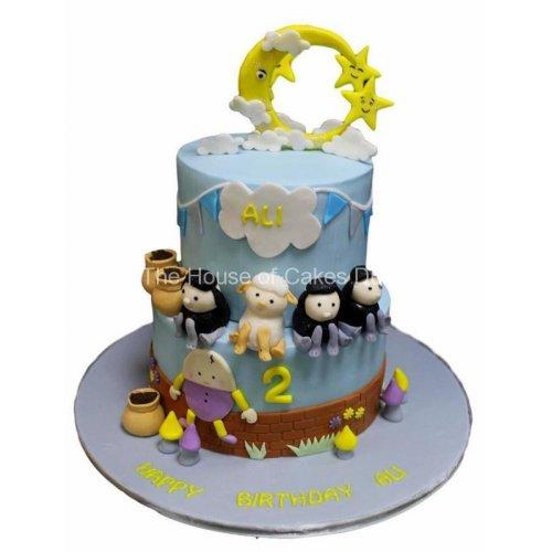 nursery rhymes cake - little baby bum 7