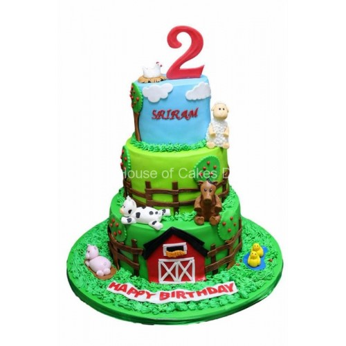 Farm animals cake 12