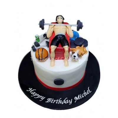 Fitness and other favourite things cake