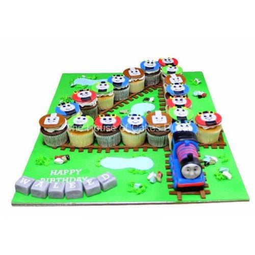 4th birthday Thomas Tank cupcakes
