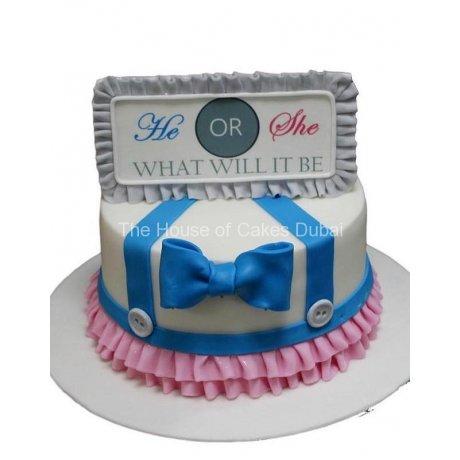gender reveal cake 4 6