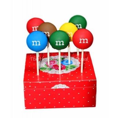 M&M cake pops