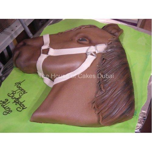 Brown Horse Head Cake