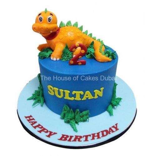 Dinosaur cake 9