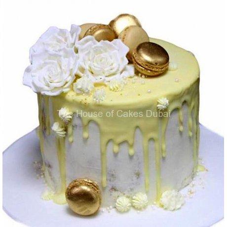 yellow drip cake 6