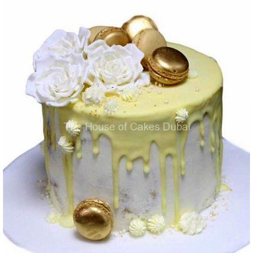 yellow drip cake 7