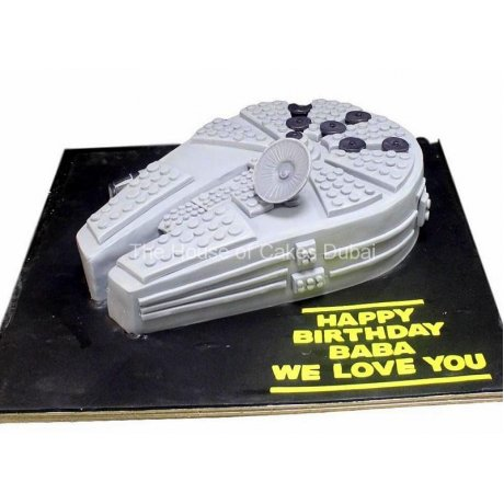 millennium falcon star wars space ship cake 2 6