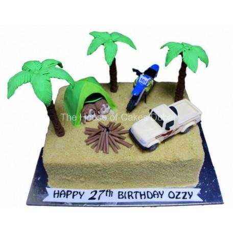 camp in desert cake 6