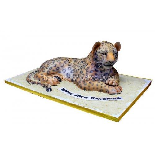 3d leopard shape cake 15