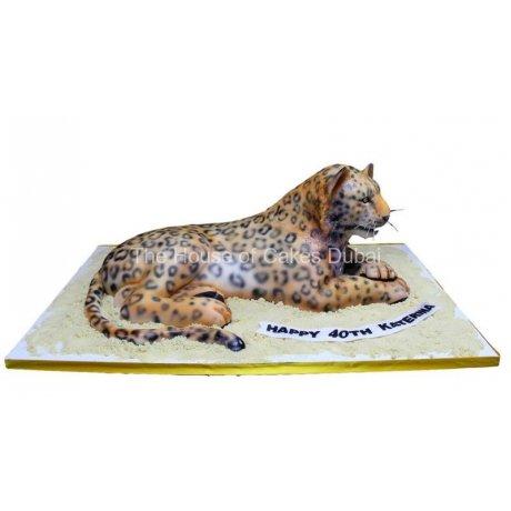 3d leopard shape cake 14