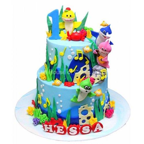 Baby shark cake 1