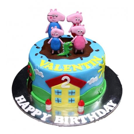 peppa pig cake 5 6
