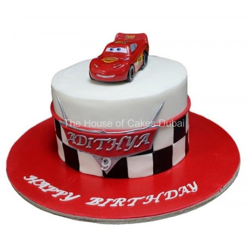 Disney cars McQueen cake 6