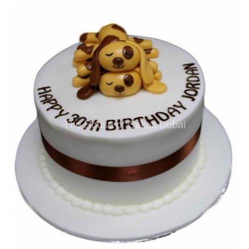 2 puppies cake