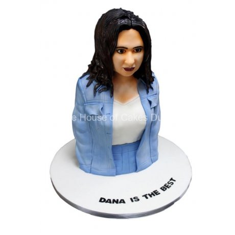 3d lady bust cake 6