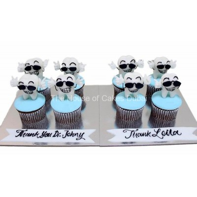 Tooth cupcakes 1