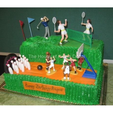 sport theme cake 6