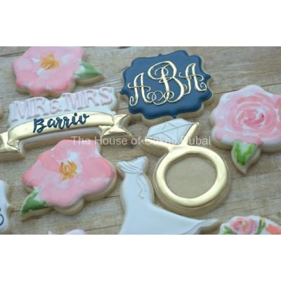 Engagement bridal shower cookies