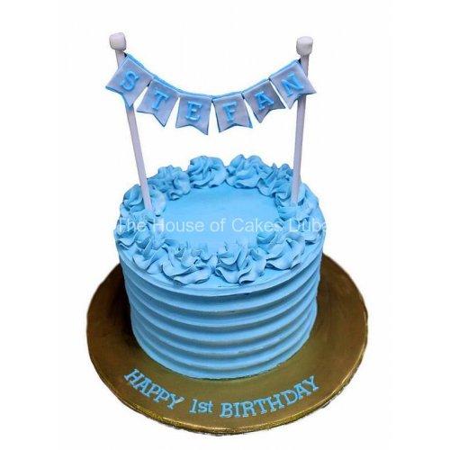 Blue cream cake 1