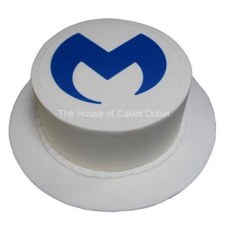 M logo cake