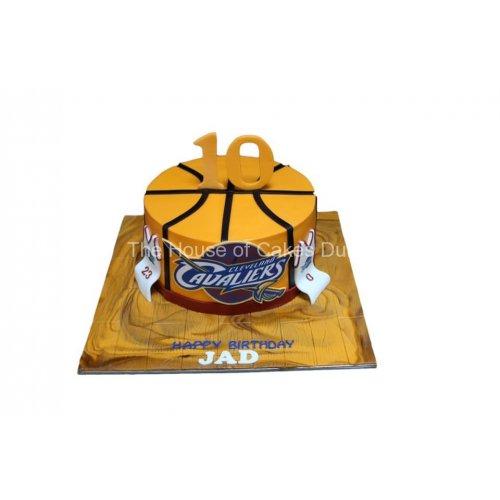 basketball cake 6 7
