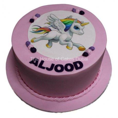 unicorn photo cake 6
